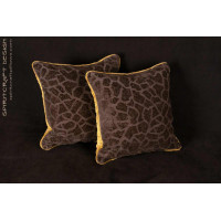 Custom Pillows - Lee Jofa Groundworks Saldanha Velvet in Brown