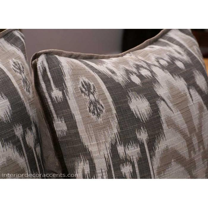 Kravet Design Bansuri Ikat In Slate- Lee Jofa Velvet