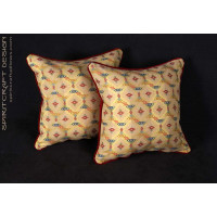 Custom Decorative Pillows - Lee Jofa Zanzibar Lampas Fabric