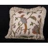 Hand-woven G.P. J. Baker Crewel and Clarence Velvet Single Pillow