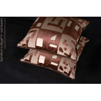 Beacon Hill Abstract Velvet with Kravet Couture Designer Pillows