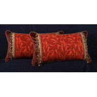 Bergamo Cut Velvet and Brunschwig Fils Velvet Designer Pillows