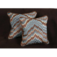 Belgian Velvet Flame Stitch - Kravet Velvet Luxury Designer Pillows