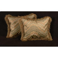 Belgian Velvet Flame Stitch - Lee Jofa Velvet Designer Pillows