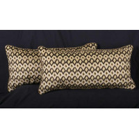 Bergamo Cut Velvet with Faux Suede Designer Pillows
