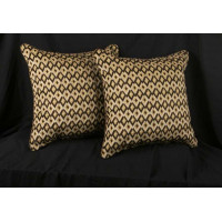 Bergamo Cut Velvet and Clarence House Velvet Decorative Pillows
