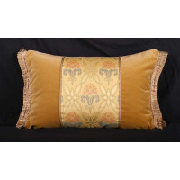 Brunschwig and Fils Silk Brocade Luxury Designer Pillow