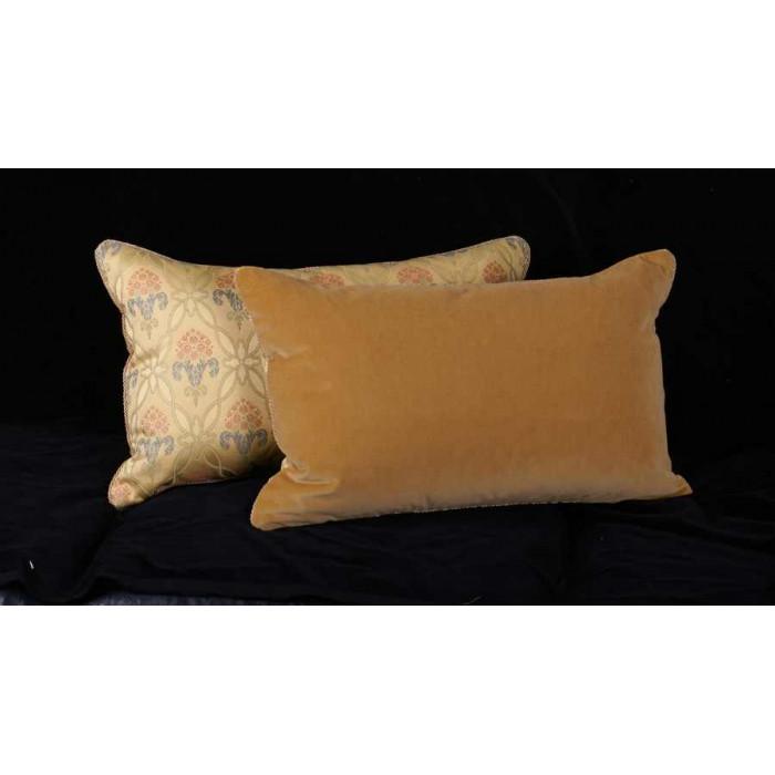 Luxury Decorative Pillows : Brunschwig Fils French Lampas Luxury Velvet Decorative Pillows