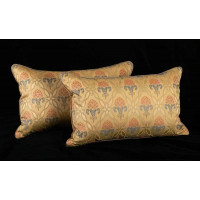 Brunschwig Fils French Lampas Luxury Velvet Decorative Pillows