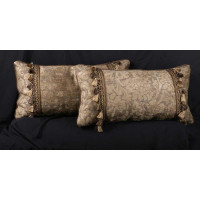 Brunschwig and Fils Chenille Clarence House Velvet Decorative Pillows