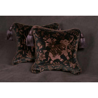 Schumacher La Foresta Velvet - Lee Jofa Velvet Designer Pillows