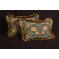 Clarence House Brocade with Lee Jofa Velvet - Decorative Pillows