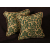 Clarence House Lampas - Scalamandre Velvet Decorative Accent Pillows