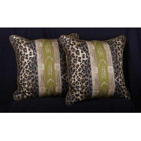 Clarence House Hand Printed Mozambique Fabric - Decorative Pillows