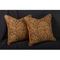 Clarence House Tapestry - Brunschwig Velvet Square Accent Pillows