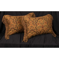Clarence House Tapestry - Brunschwig and Fils Velvet Accent Pillows