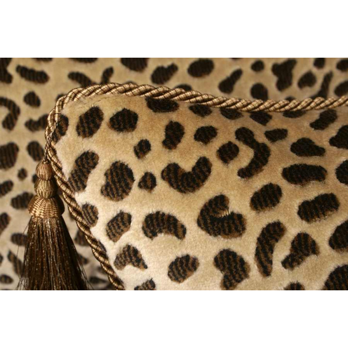 Clarence House Leopard with Lee Jofa Velvet - Designer Pillow Set