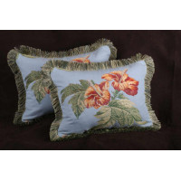 Corragio Fil Coupe Brocade - Lee Jofa Velvet Elegant Designer Pillows