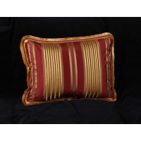 Cowtan and Tout Silk and Velvet Stripe - Elegant Single Decorative Pillow
