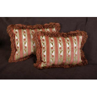 Floral Stripe Cut Velvet - Lee Jofa Velvet - Elegant Pillows