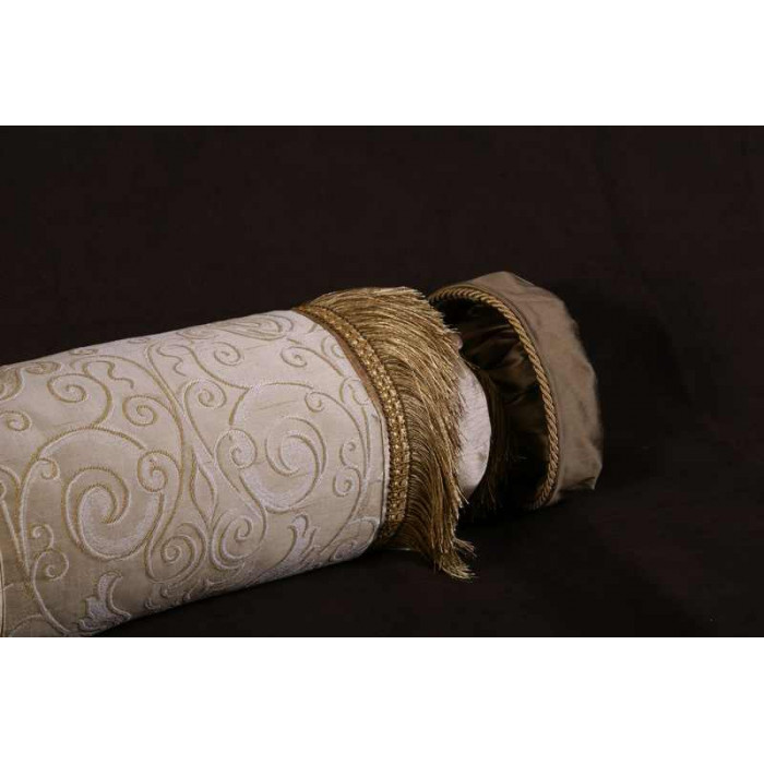 Elegant Designer Brocade Luxurious Silk Custom Bolster