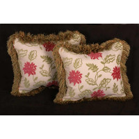 Kravet Chenille Brocade and Robert Allen Velvet Decorative Pillows