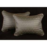 Old Word Weavers Diamond Brocade - Lee Jofa Velvet Decorative Pillows