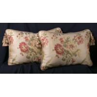 Liz Claiborne Floral Brocade | Brunschwig Velvet Pillows