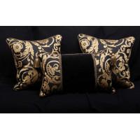 Waverly Brocade - Brunschwig Fils Velvet - Set of Three Pillows