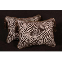 Animal Zebra Velvet with Italian Kravet Linen Velvet Designer Pillows