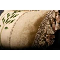 Donghia Embroidered Silk - Brunschwig Fils Velvet Single Throw Pillow