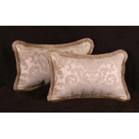 Fabricut Chenille Damask Pierre Frey Velvet Designer Pillows