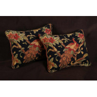 Italian Brocade and Clarence House Velvet - Floral Decorative Pillows