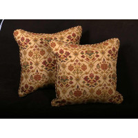 Kravet Couture Italian Brocade and Pierre Frey Velvet Accent Pillows