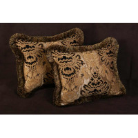 Kravet Couture Metallic Brocade - Lee Jofa Velvet Decorative Pillows