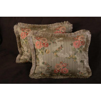 Kravet Couture Brocade and Pollack Velvet Pillows with Trim Options