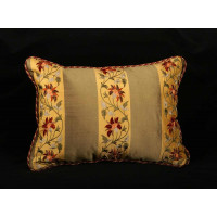 Kravet Couture Silk Embroidery - Clarence House Velvet - Single Pillow