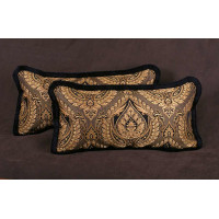 Kravet Couture Italian Brocade and Kravet Velvet Luxury Bed Pillows