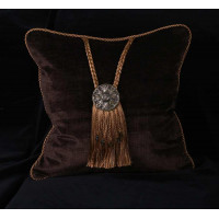 Kravet Couture Luxury Italian Velvet with Medallion - Accent Pillow