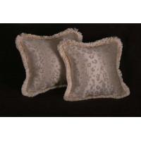 Kravet Couture Mohair Leopard Silk - Lee Jofa Velvet Accent Pillows