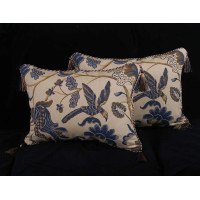 Lee Jofa Cavendish Jacobean  - Elegant Designer Pillows