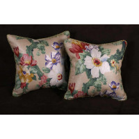 Lee Jofa, Eric Cohler Floral Linen - Pollack Plush Velvet Pillows