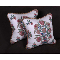 Lee Jofa Gumla Crewel - Elegant Decorative Accent Pillows
