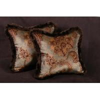 Lee Jofa Printed Velvet - Elegant Designer Accent Pillows