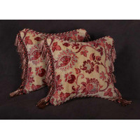 Lee Jofa Rivoli Velvet with Scalamandre - Elegant Designer Pillows