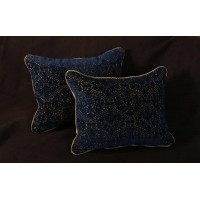 Lee Jofa Winthrop Cut Velvet - Elegant Decorative Pillows