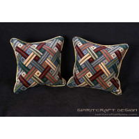 Lee Jofa Mohair Patchwork Velvet  | Decorative Accent Pillows