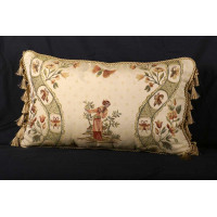 Lee Jofa Italian Brocade in Toile Motif - Single Decorative Pillow