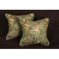 Old World Weavers Brocade - Kravet Velvet Elegant Accent Pillows