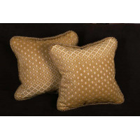 Old World Weavers Cut Velvet Elegant Designer Pillows